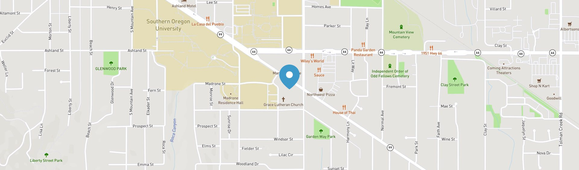 graphic map of dental office's location